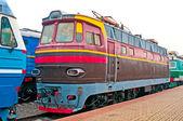 Freight train locomotive — Stock Photo