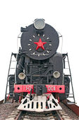 Vintage Soviet locomotive — Foto Stock