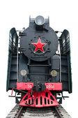 Locomotiva a vapore Sovietica — Foto Stock
