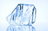 Blue ice block closeup — Stock Photo