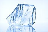 Blue ice block closeup — Stock Photo