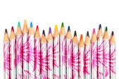 Colored pencils in the form of wave — Stock Photo