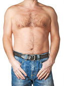 Man torso on white background — ストック写真