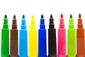 Set of multicolored markers — Stock Photo