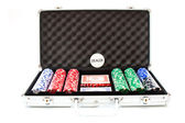 Poker case on white background — Стоковое фото