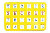 "Sheet with decryption word ""Secret"" — Stock Photo"