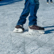 Figure skating ice skates in action — Stock Photo #44076173