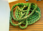 Green rough rope — 图库照片