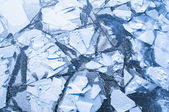 Ice on a river — Stock Photo