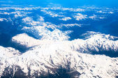 View landscape of mountain from airplane window — Stockfoto