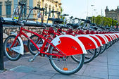 BARCELONA, SPAIN - JUN 08, 2014: Bicycle of the Bicing service i — Stock Photo