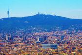 Barcelona. View on Tibidabo mountain — Stock Photo