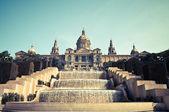 BARCELONA, SPAIN - JUN 10, 2014: National museum of Catalan visu — Foto de Stock