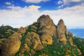 Montserrat mountains and blue sky — Stock Photo