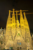 BARCELONA, SPAIN - JUNE 19,2014: The Basilica of La Sagrada Fami — Stock Photo