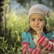 Girl in knitted cardigan — Stock Photo #34459921