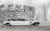 Limousine near the fortress — Stock Photo