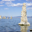 Tufa structures, Mono Lake, California - Stock Photo