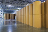 Spools of paper in the printing plant — 图库照片
