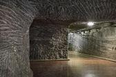 Mina subterránea túnel en la sal — Foto de Stock