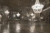地下鉱山、ヴィエリチカの塩の商工会議所 — ストック写真