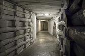 Underground tunnel in the Salt Mine — Stock Photo