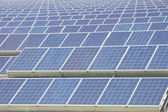 Renewable resorce: Solar - production of natural energy — 图库照片