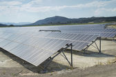 Renewable resorce: Solar - production of natural energy — Stok fotoğraf