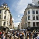 Постер, плакат: The most famous street in Oslo Norway