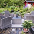 Patio with furnishings — Foto Stock