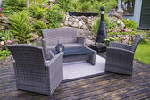 Patio with furnishings — Stock Photo