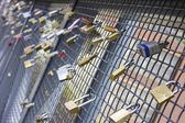 Love padlocks — Stock Photo