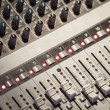 Sound mixing console — Stock Photo