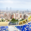 Panoramof Barcelontaken from Park Guell — Stock Photo #37248619