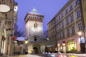 Main street in historic Krakow, Poland — Stock Photo