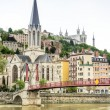 River and Buildings in Lyon, France — Stock Photo #37383791