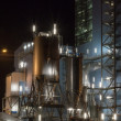 Foto Stock: Power plant by night