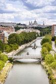 Panorama of Madrid, Capital City of Spain, Europe — Stock Photo