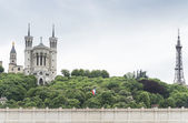 Panorama of the famous hill in Lyon, France — Stockfoto