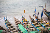 Traditional African Fishing Boats — Foto Stock