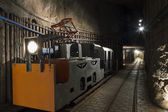 Transportation for miners in salt mine — Stock Photo