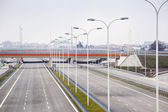 Brand new, wide motorway — Stock Photo