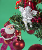Cute christmas ornaments — Stock Photo