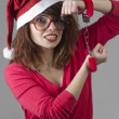 Christmas Girl Handcuffed — Foto Stock