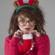 Christmas Girl — Foto de Stock