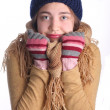 Young cute winter girl — Stock Photo
