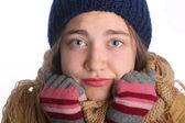 Young cute winter girl — Stock Photo