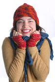 Winter girl portrait — Stock Photo