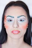 Beautiful Fashion Makeup Girl — Stock Photo