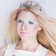 Snow queen beauty make up — Stock Photo